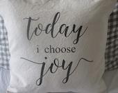 Canvas Choose Joy Pillow Cover