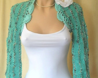LIQUIDATION Stock SALE 30% OFF / Women Shrug Bolero Wedding Bridal Accessories Jacket Vest Hand Knitted Bridesmaid Capelet Cardigan Crochet