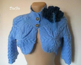 LIQUIDATION Stock SALE 30% OFF / Women Shrug Bolero Wedding Accessories Hand Knitted Crochet Elegant Jacket Romantic Cardigan Feminine Vest