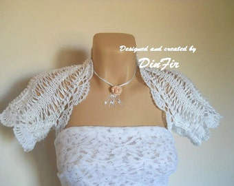 LIQUIDATION Stock SALE 30% OFF Bolero Shrug Wedding Bridal Accessories Chic Cape Hand Knitted Crochet Elegant Jacket Cardigan Women Capelet