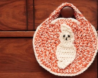 CROCHET PATTERN- Halloween Crochet Patterns, Crochet Ghost Pattern, Halloween Bag Pattern, Trick or Treat Bag- Instant Download (58)
