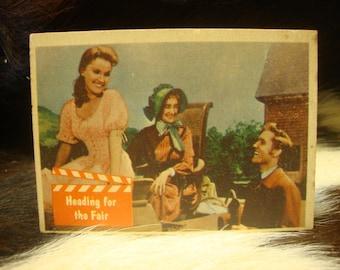 "VINTAGE 1956 ELVIS PRESLEY Trading Card #54 ""Heading For The Fair"" From ""Love Me Tender"""