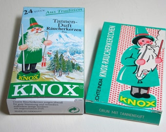 Knox German Incense Cones Pine Scent 2 Boxes Great Graphics