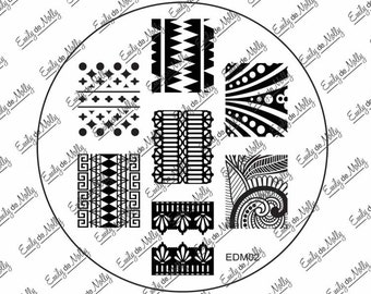 Nail stamping plate - EDM02