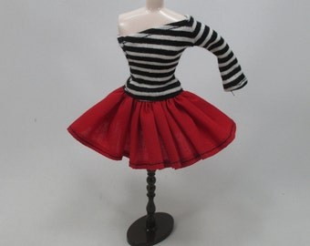 Outfit Clothing Fashion costume Handmade for Blythe Doll strips dress 955-35
