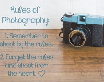 Photographic Print of Rules of Photography; 8 x 12 Metallic Paper