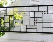 """Clear Textured Geometric FD- 29   5/8""""   x   8  1/8"""""""