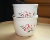 House of Webster Wild Briar Rose Pair of Soup Cups No Handles Dessert Dish