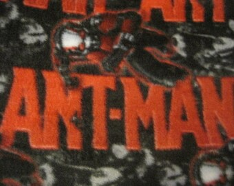 Ant-Man with Gray Handmade Fleece Double Layer Blanket - Ready to Ship Now