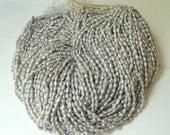 SALE  -  8 Strands Silver Gray Rice Krispie Freshwater Pearls - Organic, Crinkly, Bumpy Vintage Appeal - (sgplotg)