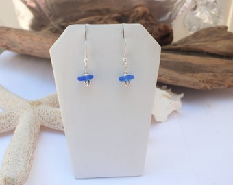 Sterling Earrings - Lake Erie Earrings - Cobalt Blue Pierced Earrings - Mermaid Jewelry - FREE Shipping inside the United States