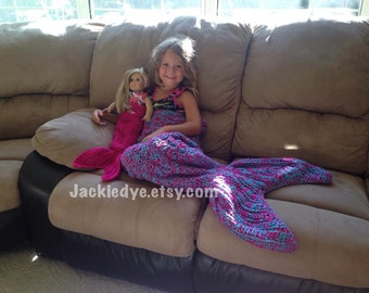 Wraparound Crochet Mermaid Tail Blanket