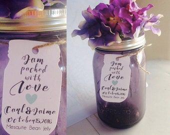 """Jam Favor Tag """"Jam Packed With Love"""" tag Wedding Favors Tags Wedding Gift Tags Wedding Spread the Love Jam Labels Canning Labels  Favors"""