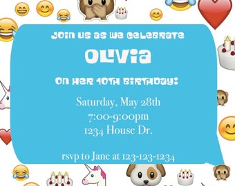 Emoji Birthday Invite