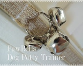 Natural Jute Training Bells, Dog Potty Trainer, Paw Bells, Instructions included