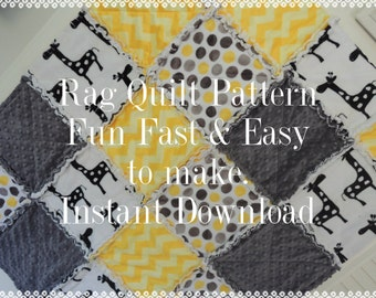 Rag Quilt Pattern Tutorial, with photos, pdf