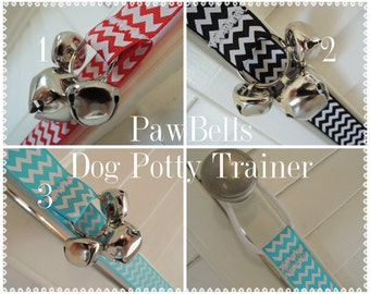 Chevron Dog Housebreaking Training Bells, Paw Bells,Instructions included, Fast Shipping