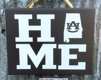 Auburn sign Alabama War Eagle gift sign Home State decor plaque wall hanging