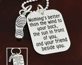 Nothings Better Necklace / Key Ring - Runner Jewelry - Sterling Silver