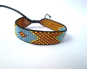 Huichol Native American Inspired Multi-Colored, Beaded Friendship Bracelet 107