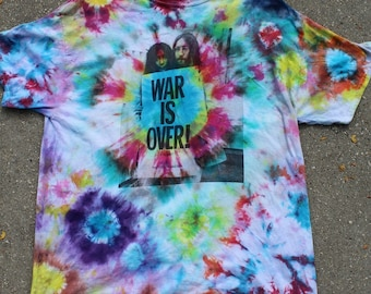 War is over, John Lennon Tie Dye shirt XL
