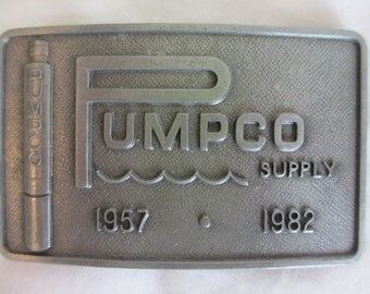 Pumpco Supply Belt Buckle 1957-1982