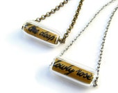 Kate Bush Necklace Bronze - CONFETTI - Ninth Wave Ltd Ed - Etsy uk - only edition 6 remains