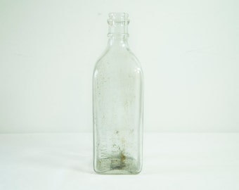Vintage 1920s Max Huncke Chemical Co Embalming Fluid Glass Bottle - Brooklyn, NY