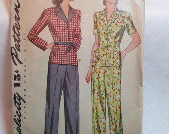 "Antique 1943 Simplicity Pattern #4528 - size 34"" Bust"