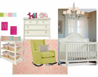 Nursery Interior Design, E-Interior Design, Online Interior Design, Home Decor, Affordable Interior Design Service, DIY Interior Design