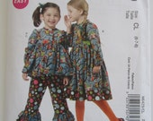 UNCUT McCalls Pattern M6429 Easy to Sew Girls Top, Dress & Pants Sizes 6-7-8 Ruffles and Lace Collections