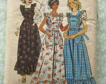 Misses Dress or Jumper and Blouse with Short or Long Sleeves Size 16 Bust 38 Vintage 1970's Simplicity 6218 Cut/Complete