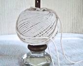Vintage Reimagined Glass Door Knob Package Twine Holder Craft Room Accessary
