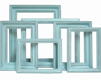 Picture Frame Picture Frame 8x10 Picture Frame 5x7 Picture Frame Set Rustic Picture Frame Frames Wedding Nursery Wall Decor Art Turquoise