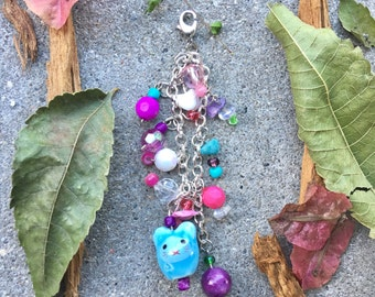 Pink and Blue Mouse Dangle Charm