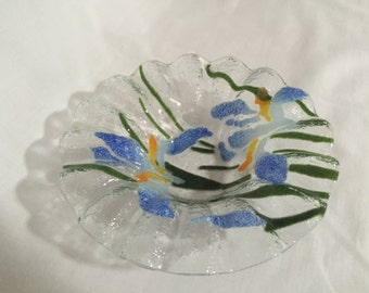 Iris Fused Glass Bowl / Candy Dish By Gatormom13