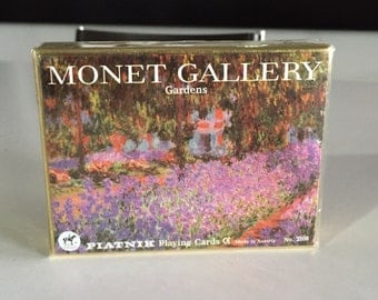 Claude Monet/ Monet Gallery Gardens/ Piatnik Playing Cards/ Made in Austria No. 2108 By Gatormom13