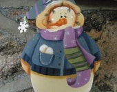 Tole Christmas Snowman Ornament (Personalization available.)