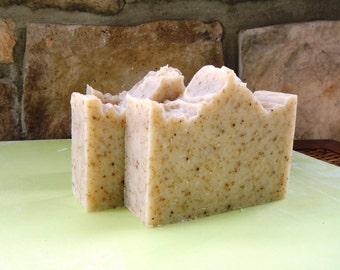 Oatmeal Lavender Vegan Soap Loaf, All Natural Soap, Soap Loaf, Mens Soap, Handmade Soap, Gentle Soap, Skincare, Soothing Soap
