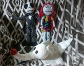Crochet Jack Sally Zero dolls
