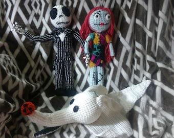 Crochet Jack Sally Zero dolls