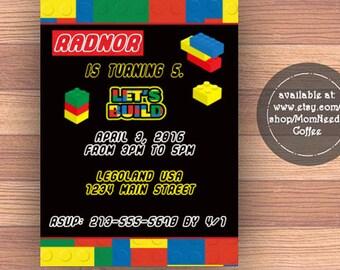 lego invitation,  lego Theme Party, lego Birthday party, lego invite, lego invites, lego invitations, lego party, lego invitations