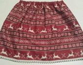Reindeer vintage skirt