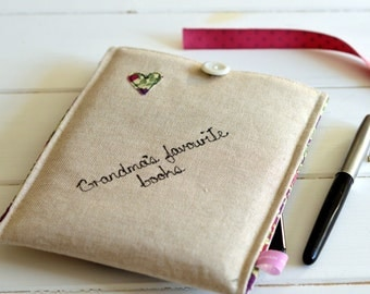 Personalised Linen Kindle Cover