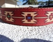 "Sale Dog Collar 1"" width Desert Jewel Quick Release adjustable - martingale style is cost upgrade"