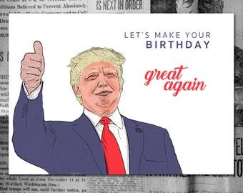 Trump Birthday Card *Digital Download*