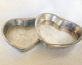 Set of 2 BAKE KING Heart Shaped Steel Cake Pans