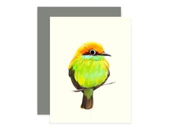 green bee eater bird card