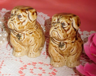 2 Old Vintage Numbered Bull Dogs