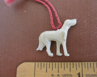 Vintage Celluloid Dog Charm - Great Dane - As Is